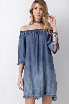55 Casual Denim Dresses for Outing Ideas 11