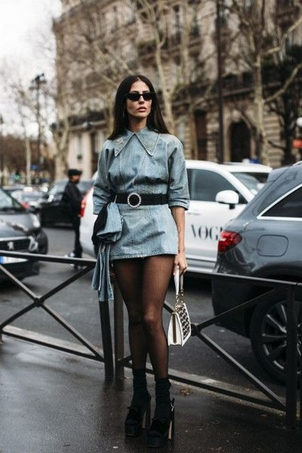 55 Casual Denim Dresses for Outing Ideas 13