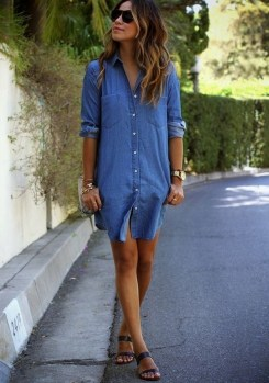 55 Casual Denim Dresses for Outing Ideas 23