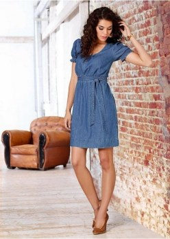 55 Casual Denim Dresses for Outing Ideas 50