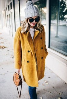 60 Adorable Yellow Outfit for Winter 1
