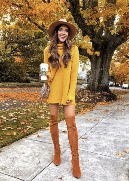 60 Adorable Yellow Outfit for Winter 15