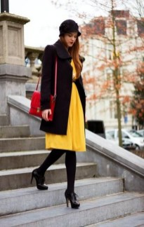 60 Adorable Yellow Outfit for Winter 2