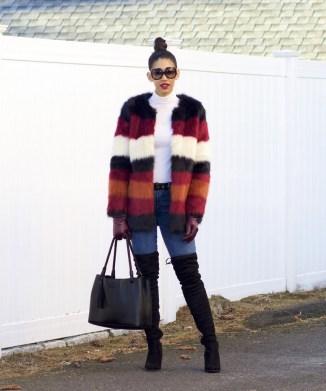 80 Fashionable Women Faux Fur Coats Look 80