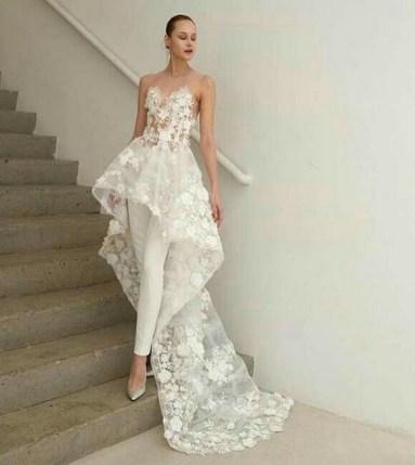 80 Simple and Glam Jumpsuit Wedding Dresses Ideas 17