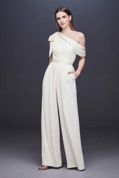 80 Simple and Glam Jumpsuit Wedding Dresses Ideas 18