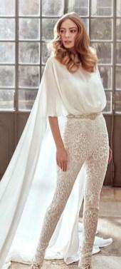 80 Simple and Glam Jumpsuit Wedding Dresses Ideas 22