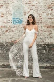 80 Simple and Glam Jumpsuit Wedding Dresses Ideas 38