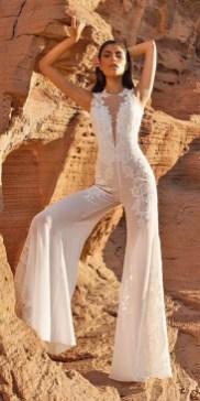 80 Simple and Glam Jumpsuit Wedding Dresses Ideas 42