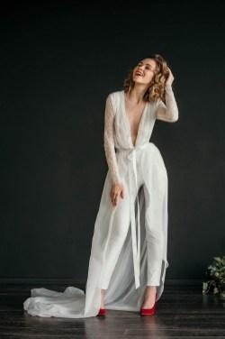 80 Simple and Glam Jumpsuit Wedding Dresses Ideas 43
