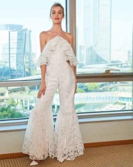 80 Simple and Glam Jumpsuit Wedding Dresses Ideas 47