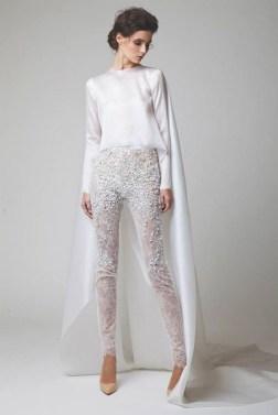 80 Simple and Glam Jumpsuit Wedding Dresses Ideas 49