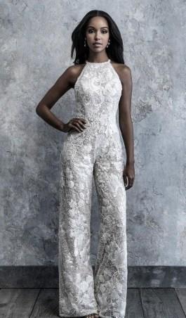80 Simple and Glam Jumpsuit Wedding Dresses Ideas 7
