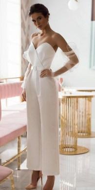 80 Simple and Glam Jumpsuit Wedding Dresses Ideas 71