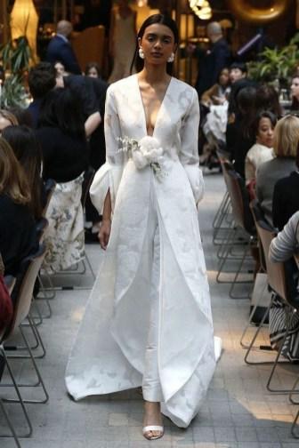 80 Simple and Glam Jumpsuit Wedding Dresses Ideas 74