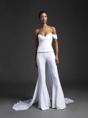 80 Simple and Glam Jumpsuit Wedding Dresses Ideas 83