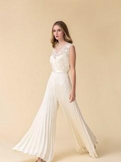 80 Simple and Glam Jumpsuit Wedding Dresses Ideas 9