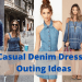 Casual Denim Dresses for Outing Ideas