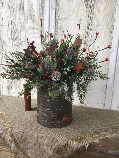 How Stunning Rustic Christmas Decorations Ideas 43