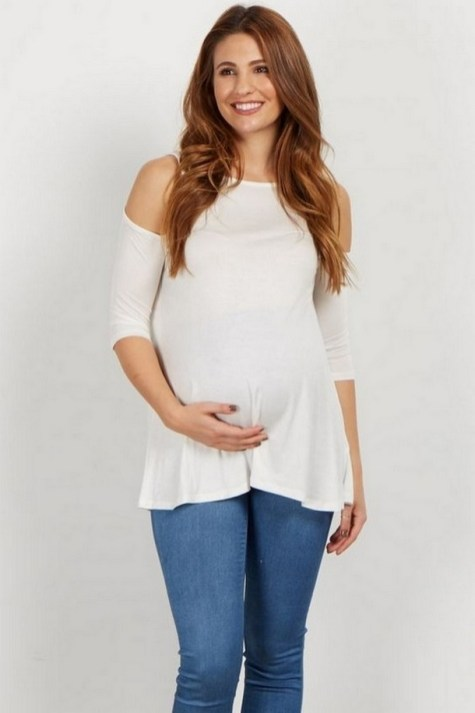 50 Comfy Jeans Outfits For Pregnant Women Ideas 39