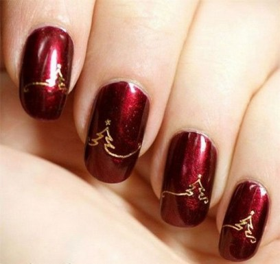50 Cute and Festive Christmas Nail Design You Should to See 05