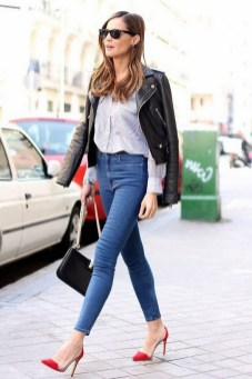 50 Modern Look Jeans and Red Shoes Outfit Ideas 01