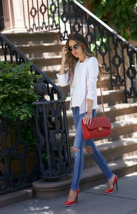 50 Modern Look Jeans and Red Shoes Outfit Ideas 13
