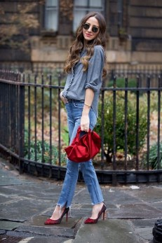 50 Modern Look Jeans and Red Shoes Outfit Ideas 28