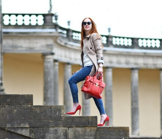 50 Modern Look Jeans and Red Shoes Outfit Ideas 32