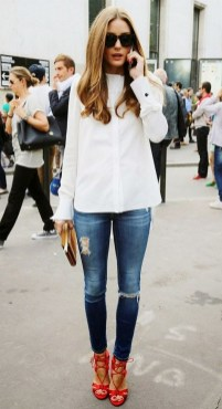 50 Modern Look Jeans and Red Shoes Outfit Ideas 35