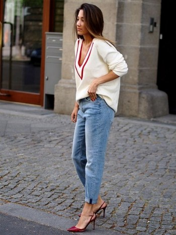 50 Modern Look Jeans and Red Shoes Outfit Ideas 50