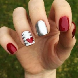 50 Nail Art Ideas for Valentines Day You Need to See 12