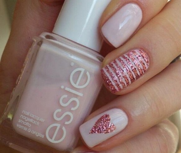 50 Nail Art Ideas for Valentines Day You Need to See 25