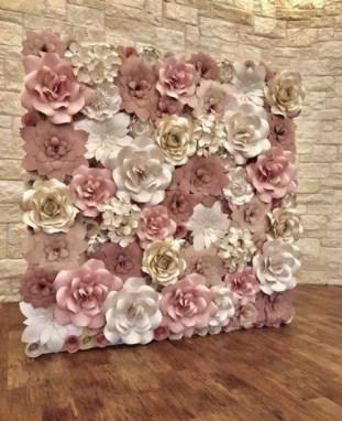 50 Stunning Paper Flower Decoration for Wedding Ideas 01