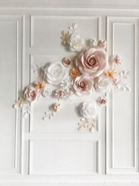 50 Stunning Paper Flower Decoration for Wedding Ideas 08