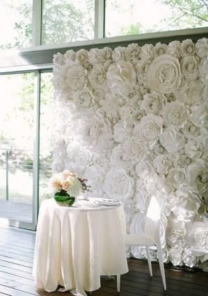 50 Stunning Paper Flower Decoration for Wedding Ideas 12