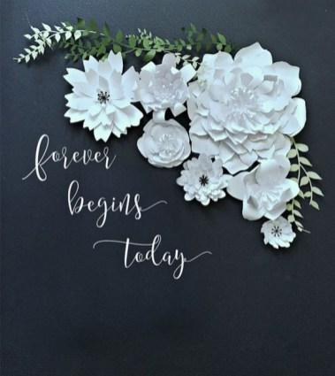 50 Stunning Paper Flower Decoration for Wedding Ideas 14