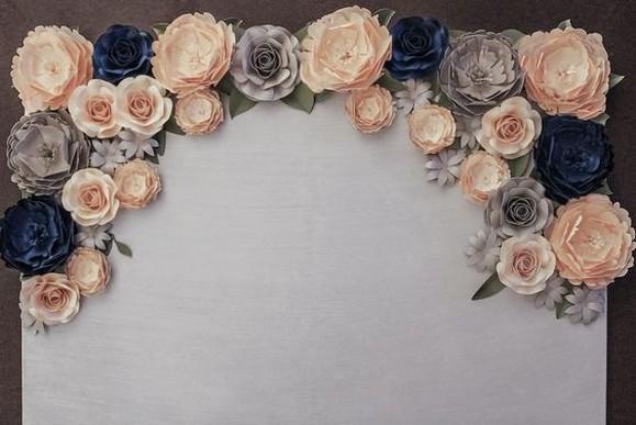50 Stunning Paper Flower Decoration for Wedding Ideas 25