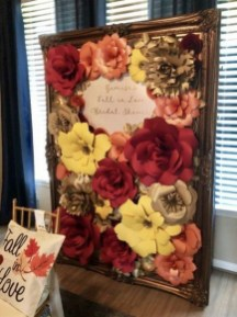 50 Stunning Paper Flower Decoration for Wedding Ideas 36