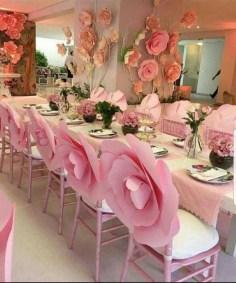 50 Stunning Paper Flower Decoration for Wedding Ideas 39