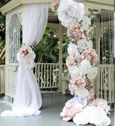 50 Stunning Paper Flower Decoration for Wedding Ideas 44