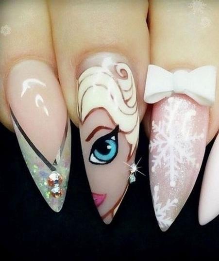 60 Disney Themed Nail Art Ideas 24