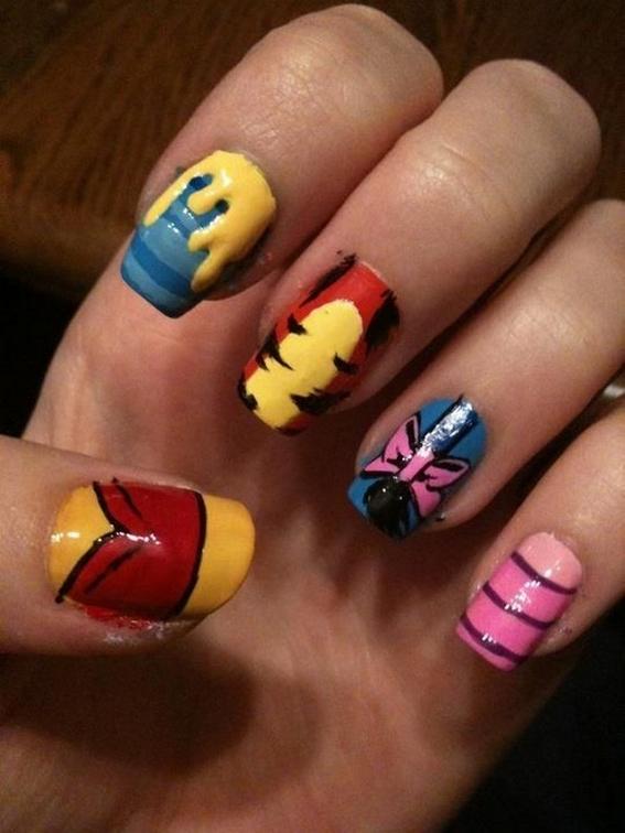 60 Disney Themed Nail Art Ideas 29
