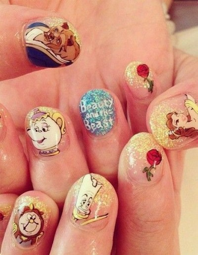 60 Disney Themed Nail Art Ideas 41