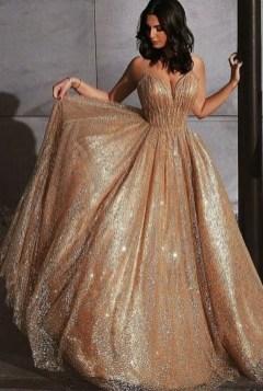 60 Gold Glam Wedding Dresses Inspiration 14