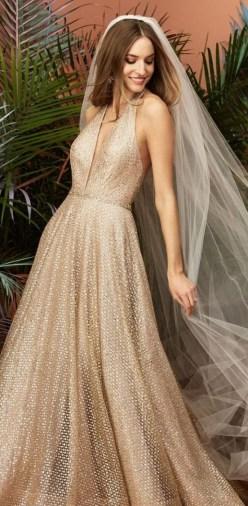 60 Gold Glam Wedding Dresses Inspiration 33