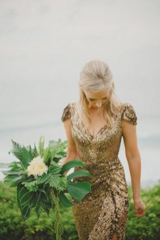 60 Gold Glam Wedding Dresses Inspiration 37
