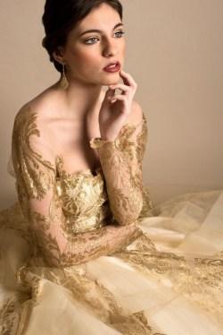 60 Gold Glam Wedding Dresses Inspiration 40