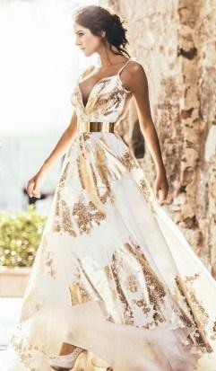60 Gold Glam Wedding Dresses Inspiration 50