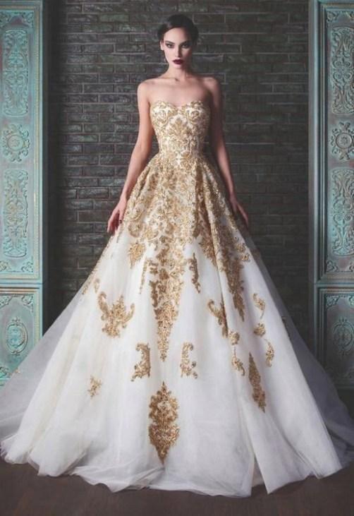 60 Gold Glam Wedding Dresses Inspiration 57